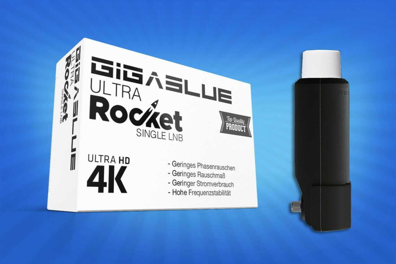 GigaBlue Ultra Rocket Single LNB 0,1dB