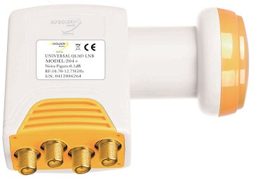Golden media LNB QUAD 204+